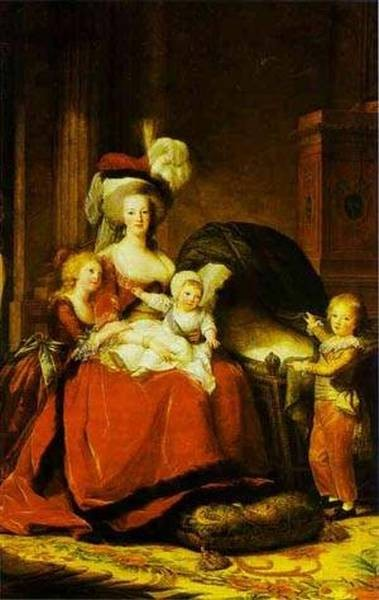 Portrait of queen marie antoinette with children xx chateau de versailles versailles france